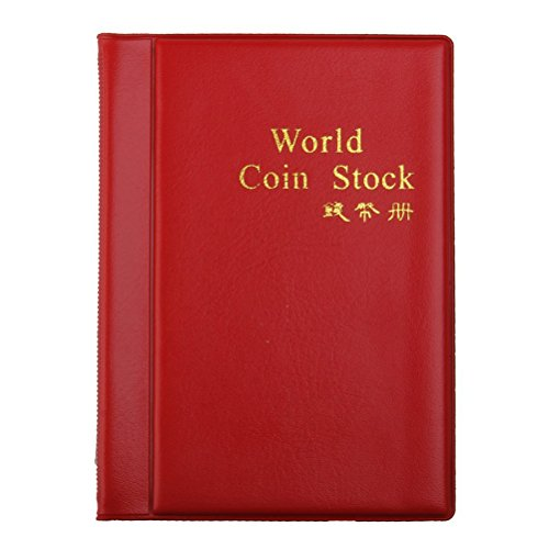 LEORX Moneta Album Moneta tasche 120 moneta titolari collezione Storage Album libro