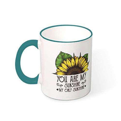 wbinshey Taza de té con texto en inglés 'You Are My Sunshine' para lavavajillas, taza de té, regalo para amigos con capacidad de 330 ml