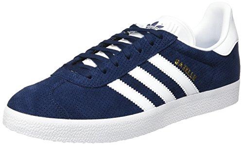 adidas Gazelle W, Scarpe da Ginnastica Basse Donna, Blu (Collegiate Navy/Footwear White/Gold Metallic), 36 EU