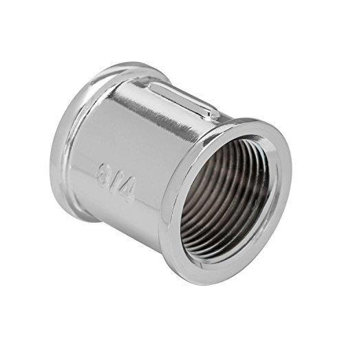2 x 1/2 Zoll IG Chrom Muffe Gewinde Rohr Adapter Gewindefitting Rohrverschraubung