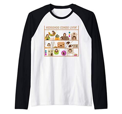 Erizo Condo Living Toys Cama de heno Hideout House Camiseta Manga Raglan