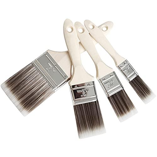 Pinselset Malerpinsel Set – Hochwertiger Flachpinsel Lackierpinsel für präzise Malerarbeiten – Lasurpinsel für alle Untergründe – Praktischer Lackpinsel ohne Borstenverlust