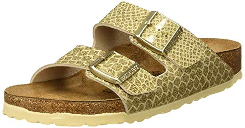 BIRKENSTOCK Mädchen Arizona Sandalen, Gold (Magic Snake Gold Magic Snake Gold), 35 EU