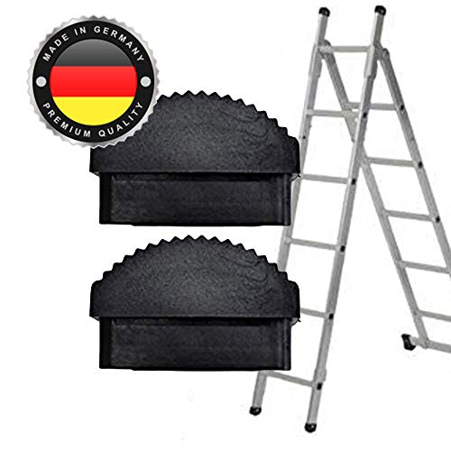 Leiter Gummi-Füße Fuß Gummi Traversenfußkappe Kappe Ersatz Anti-Rutsch (58 x 20 mm, 2 STK)
