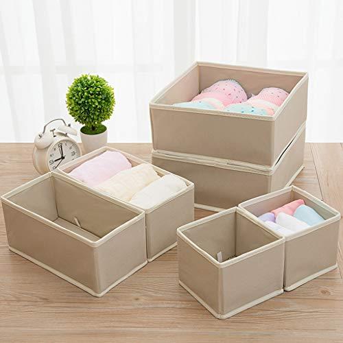 Xuping shop Set van 6 opbergdoos - Multi-Use Organisers Universeel opbergsysteem voor accessoires, luiers, Handdoeken, Gebruiksvoorwerpen En Meer