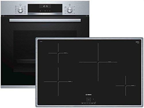 Bosch HBD634CS80 Elektrische kookplaat, set voor keukenapparaten, met inductie, glas en keramiek, zwart, 1400 W, aanraking, 79,5 cm