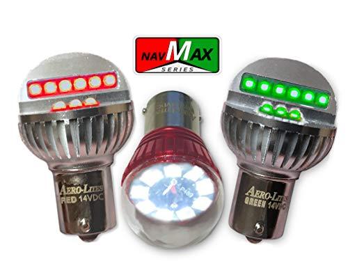 LED Aircraft Navigation/Position Light Bulb Kit | Red/Green/White | NavMax Series by Aero-Lites (14-Volt Set)