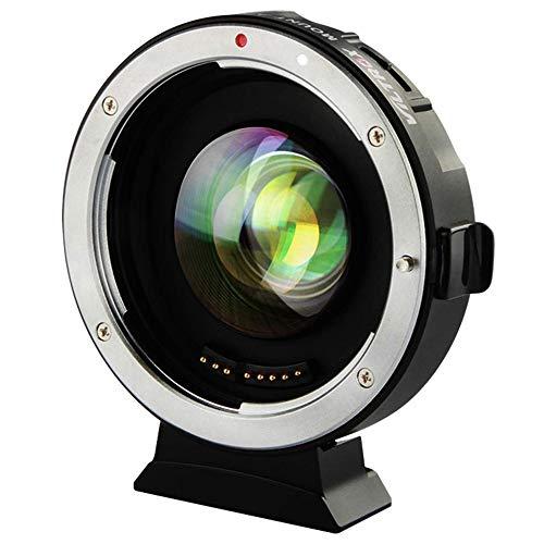 VILTROX EF-M2 II Riduttore focale Obiettivo Adattatore lente booster Auto-focus 0,71x per obiettivo Canon EF Lens to M43 Camera
