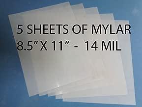 Heavy Duty 14mil Mylar Stencil Sheets - .014