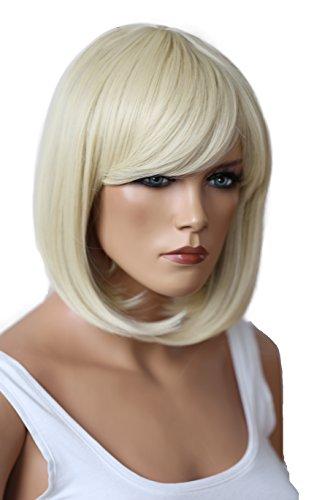 PRETTYSHOP Parrucca da donna Fashion BOB resistente al calore capelli corti colori di variazione biondo platino # 613C SH032k