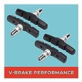 V-Brake Bremsbeläge 2 Paar 70mm Symmetrisch I Für Shimano, Tektro, Avid, Sram, XLC UVM I Hohe Bremsleistung I Langlebige & Passgenaue Bremsklötze
