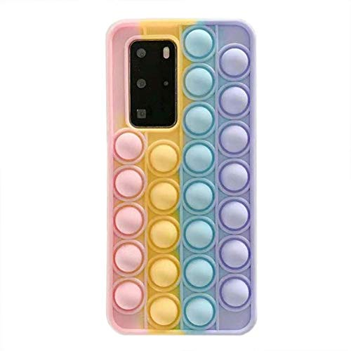 Stylish Pop Pop Bubble Sensory Fidget Case for Huawei nova 7 Pro, Autism Special Needs Stress Reliever Silicone Case,Squeeze Sensory Cover, Stylish Gifts for All Age