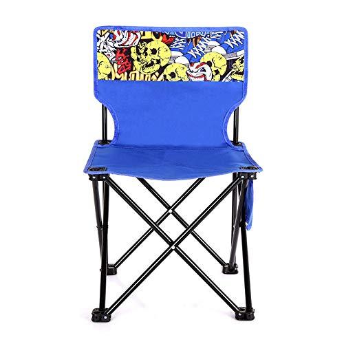 SHJMANFC Freizeit Klappstühle Tragbare Wild Fußfischen Stuhl Bunte Trend Sitz Tuch Hocker Multifunktions Skizze Stuhl Leichtgewicht, Blue-L