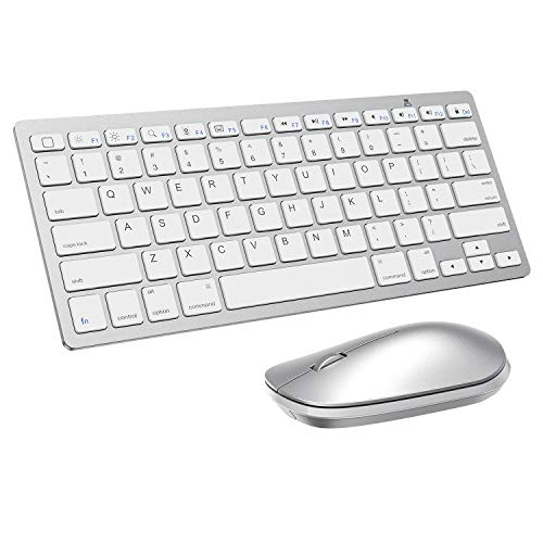 Wireless Keyboard and Mouse for iPad (iPadOS 13 and Above), SPARIN Keyboard and Mouse Compatible with iPad 8th Generation 2020 / iPad Air 4 / iPad 10.2 / iPad Pro / iPad Air / iPad Mini, Silver White