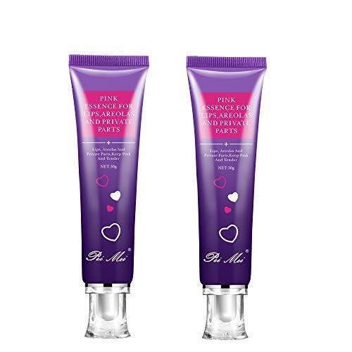 Intime Körpercreme, Pinkish Hautaufhellungscreme, Körpercreme Natural Underarm Lightening/Brightening Deodorant Cream Wirksam für Achselhöhle, Knie, Ellbogen, Empfindliche und Private Bereiche(2x30g)