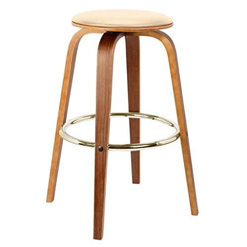 Krzesta Do Jadalni Barstoolki, Backless Obrotowy stołek Europejski Litle Wood Bar Krzesło Obracanie Nowoczesne Proste Wysokie Stołek Kreatywny Bar Krzesło Retro Bar Krzesło Light Bar Stołek
