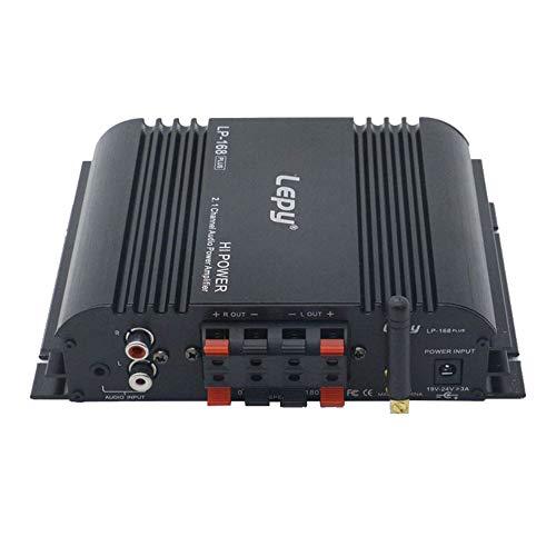 Docooler Lepy HiFi Amplificador de Audio Digital estéreo Subwoofer de 2.1 Canales BT Amplificador de Potencia Amplificador de Audio estéreo doméstico 45W * 2 + 68W * 1 LP-168PLUS