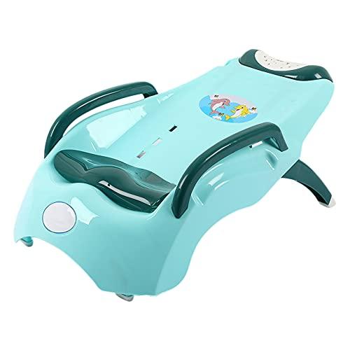 HXBH Silla plegable de champú para bebés Silla de salón de champú ajustable Silla reclinable de champú para niños de 1 a 10 años es respetuosa con el medio ambiente y duradera/Verde