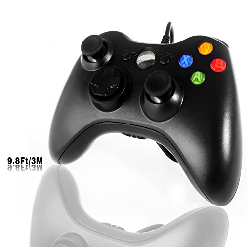 PC Controller, Wired Gamepad für Xbox 360 Windows Micsoft (Windows XP, Vista, 7, 8, 8.1, 10) Schwarz