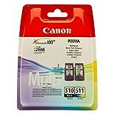 Canon PG-510& CL-511–Cartuchos de tinta–negro & color