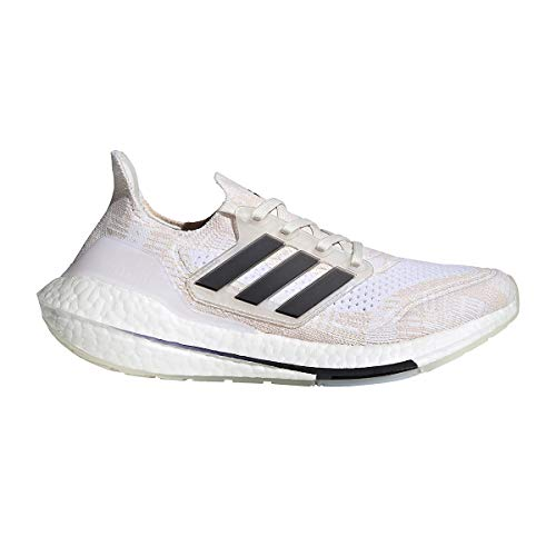 adidas Women's Ultraboost 21 Running Shoes, Non-Dyed/Black/Night Flash, 11