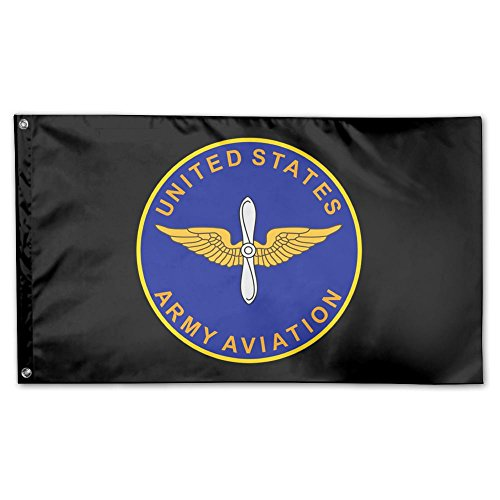 US Army Aviation Branch Garden Flag 3 X 5 Flag for Outdoor Decoration Banner Black