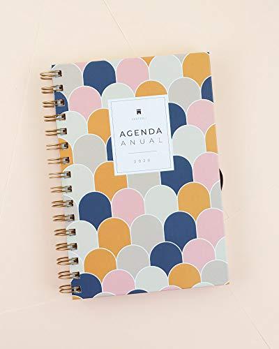 Casterli - Agenda Anual 2020 - Día página, tamaño A5 (Scales)