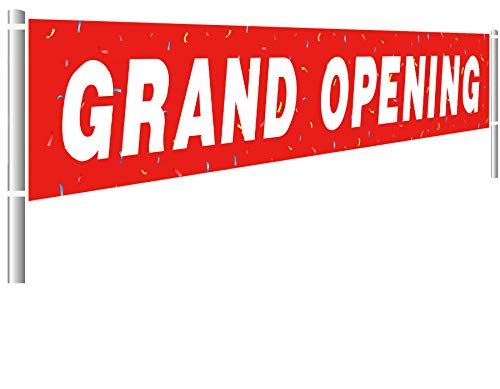 Colormoon Large Grand Opening Banner, Retail Store Shop Business Sign, Business Office Store Front Banner, Store, Advertising, Flag (9.8x1.5 feet)