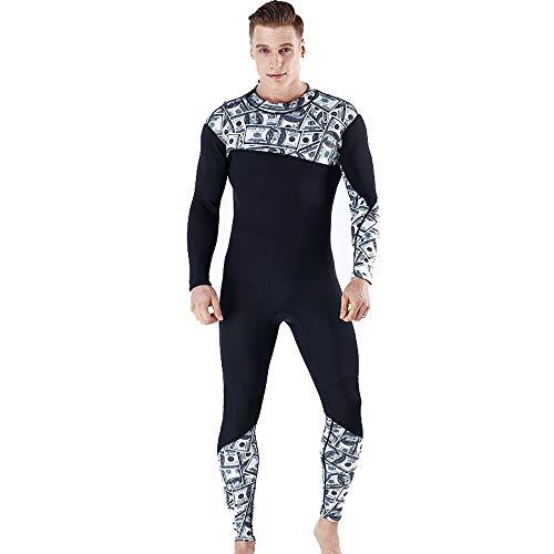 NgMik Hombre de Helado Hombres Caliente de Secado rápido Siameses de Manga Larga Traje de Surf Apto for el Buceo Ropa de baño de los Hombres Snorkeling (Color : Photo Color, Size : L)