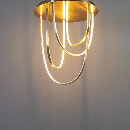 Vicarello Grote design LED plafondlamp in goud