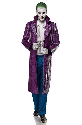 Disfraz de Joker de Halloween, película terrorista, villano o gánster para hombre, 2 piezas, carnaval