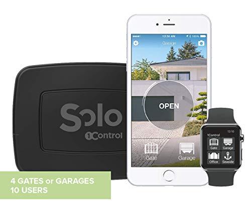 1Control SOLO 2 gen, Apricancello Bluetooth 4.0 per Smartphone per Cancelli e Porte Garage Controllati da Radiocomando, Nero
