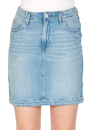 Lee Dames Jeansrok Mom Skirt - Blauw - Buzz Hype