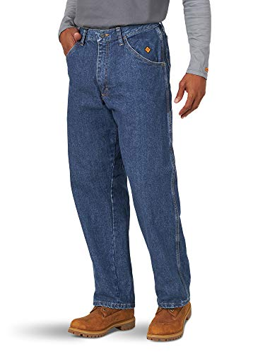Wrangler Riggs Workwear Men's Flame Resistant Carpenter Jean, denim, 36x30