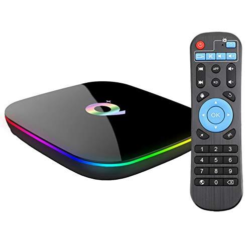 2019 Android 9.0 TV Box Q Plus TV Box H6 Quad-core cortex-A53 4GB RAM 64GB ROM Smart tv Box Support 3D 4k Ultra HD H.265 2.4GHz WiFi Ethernet TTV Box