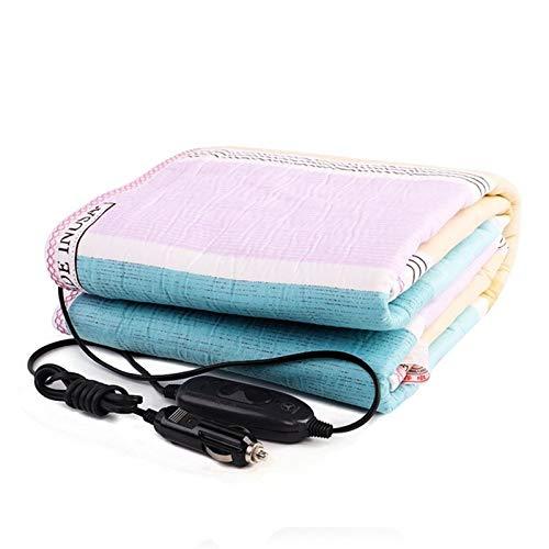 LCM Coche Calentamiento eléctrico Calentamiento Manta Almohadilla Cuello Hombro Calefacción Mantenón Mantón USB Carga Mantas eléctricas (Color : 12V 150x120cm)