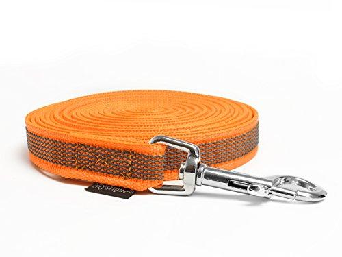 Mystique® Gummierte Schleppleine 20mm neon orange 7,5m
