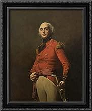 General Sir William Maxwell 20x24 Black Ornate Wood Framed Canvas Art by Henry Raeburn