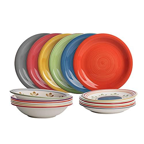 Set piatti Casablanca in stoneware, 18 pezzi Multicolore