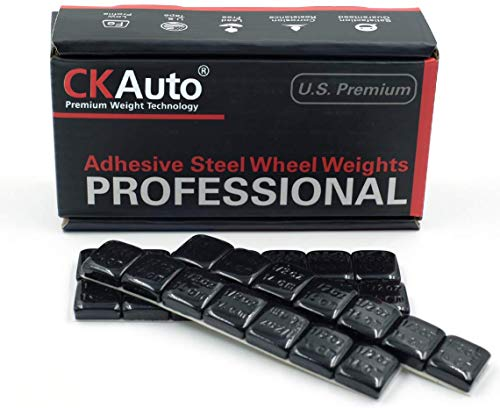 1/2oz, 0.5oz, Black Adhesive Stick on Wheel Weights, Easy Peel, US Quality, 63 oz/Box (126pcs)
