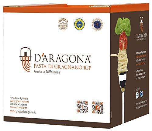 Pasta D'Aragona Gragnano 𝙄𝙂𝙋 - GIFT BOX - Eccellenza Italiana, Pasta di Semola di Grano Duro Trafilata al Bronzo- Pack 10 x 500 Gr