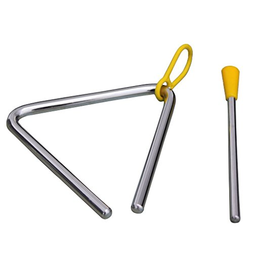 TYKusm Kinderspielzeug Percussion Musikinstrument Legierung Triangel Lernspiel Vorschule