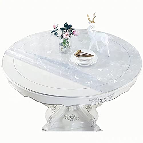 XUYUHUHU PVC Household Living Room Waterproof Carpet Tablecloth Table Cover 1.0 mmdiameter 50cm