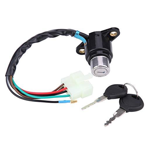 Cilindro de bloqueo del interruptor de encendido, reemplazo del interruptor de arranque de la llave de encendido de la motocicleta para Honda CB/CM 400/450
