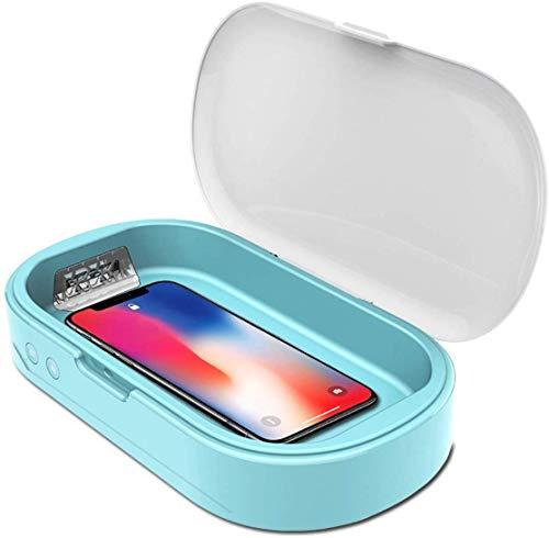 AIAIⓇ Mobiltelefon Sterilisationssterilisator Blau, UV-Kosmetiksterilisator, Multifunktionsbrillensterilisator, Schmuckdesinfektionsbox, 01