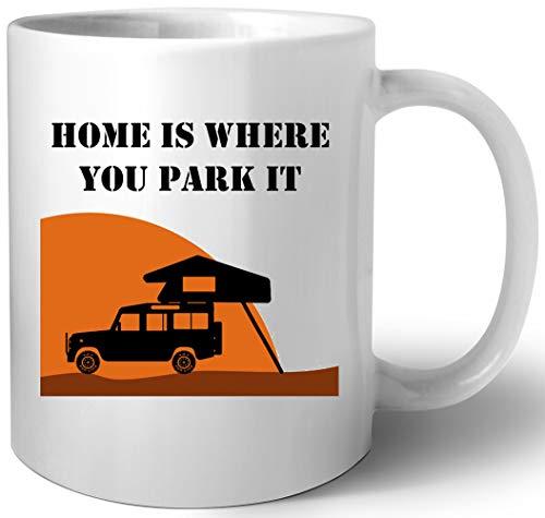 Home Is - Defender 110 - Roof Tent Keramik Tassen Mug
