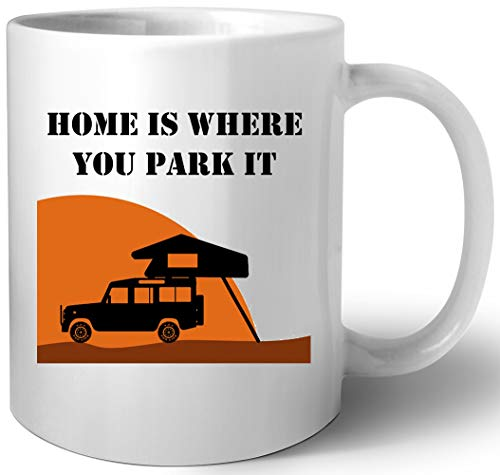 Home Is - Defender 110 - Roof Tent Keramik Tassen Mug
