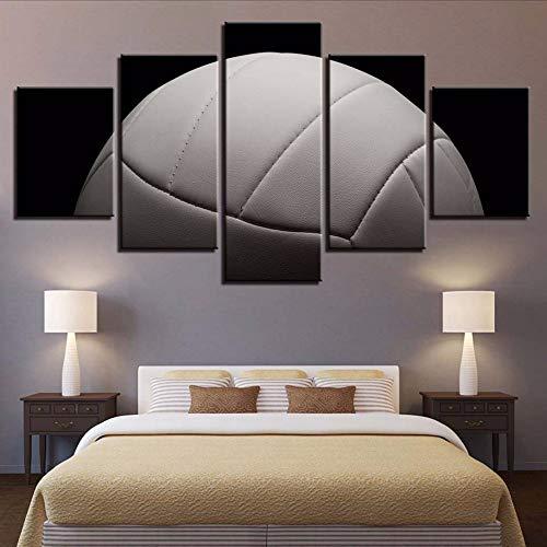 Cczxfcc, canvas van hennep geschilderd met print van thuisdecoratie, 5 stuks kunst van de muur, sportfoto's van de bol ter illustratie van de creatieve woonkamer 10x15/20/25cm-contiene Telaio