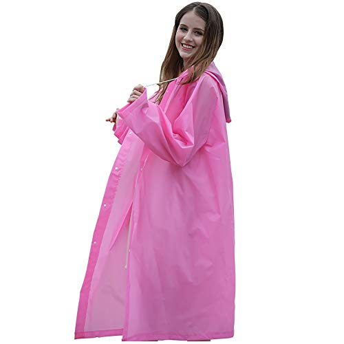Goldenla Lange Regenjas Mannen En Vrouwen Lichaam Waterdicht Volwassen Draagbare Outdoor Klimmen Verdikking Poncho roze