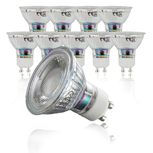 B.K.Licht 10er Set 5W LED Lampen, Leuchtmittel mit GU10 Fassung für innen, Energiesparende Birne in Reflektor-Form, je 400 Lumen, 3000K warmweiss